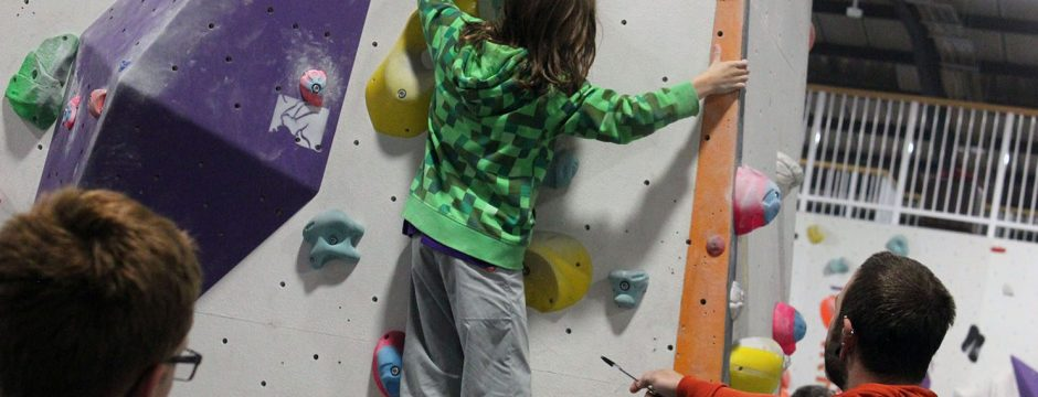 A child climbing at HarroWall